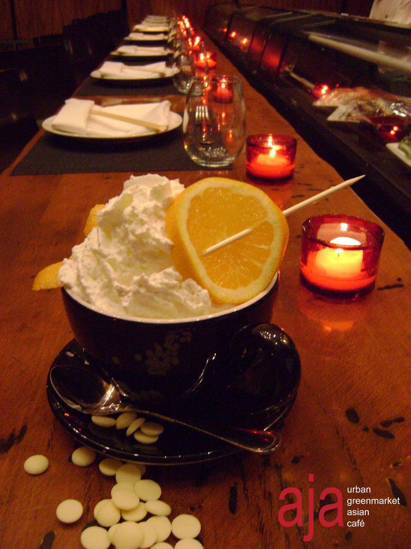 White orange blossom