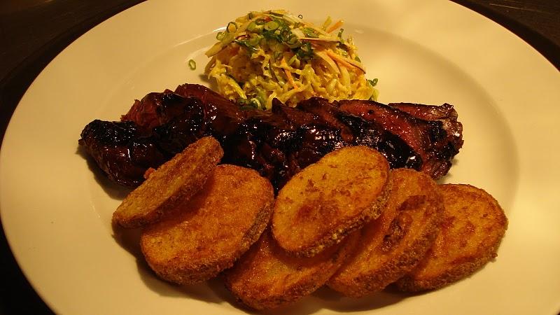 N Korean bbq hanger steak